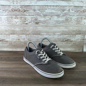 Vans Canvas Low Top Sneaker Womens 7.5 Gray